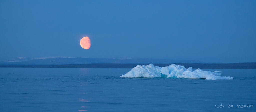 Moon over Greenland